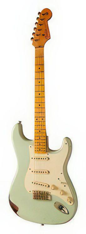 Fender Stratocaster Custom Shop Limited Edition – 50s STRATOCASTER RELIC LTD (Sonic Blue over 2-Colo